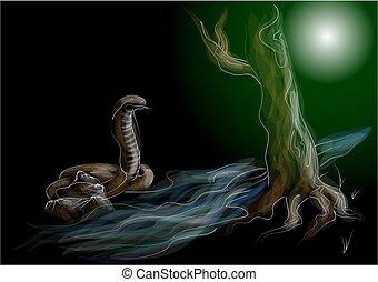 giungla, serpente