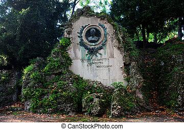 Giuseppe Balzaretti - architetto statue in Milan, Italy. -...