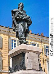 giuseppe, garibaldi, bronzo, statue.