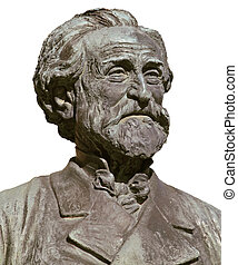 Giuseppe Verdi, famous italian opera composer; isolated on...
