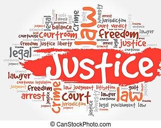giustizia, parola, nuvola
