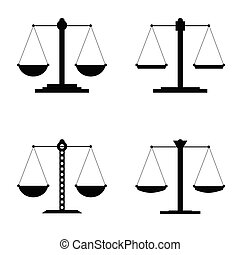 giustizia, vettore, illustrazione, icona