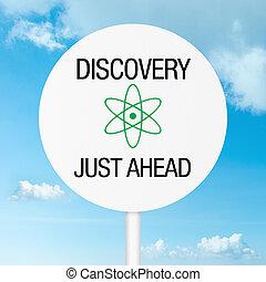 giusto, scoperta, avanti, segno strada