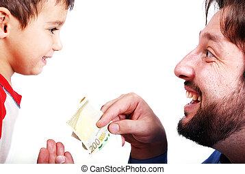givande pengar, -, gåva