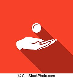 Give alms icon. Vector Illustration. - Vector Isolated Flat...