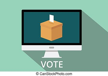 online vote box - give an online vote box vector computer