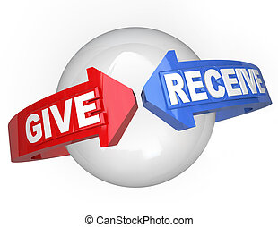 Give and Receive Sharing Support Helping Others - Giving and...