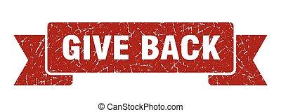 give back grunge vintage retro band. give back ribbon - give...
