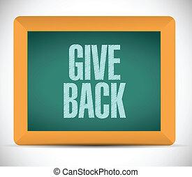give back message illustration design over a white ...