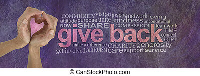 Give Back with Love Word Cloud