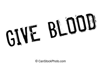 Give Blood rubber stamp