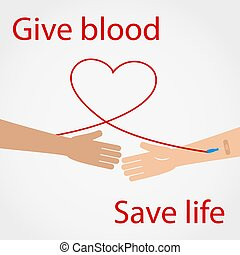 Give blood Save life.