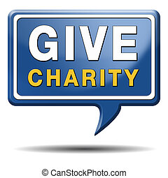 give charity - Give charity button donate raise money to...