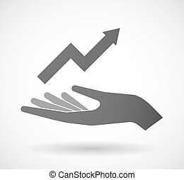 give, graph, hånd