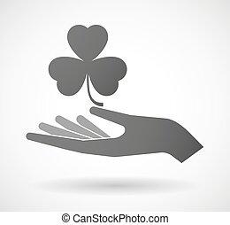 give, kløver, hånd