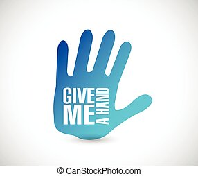 give me a hand illustration design