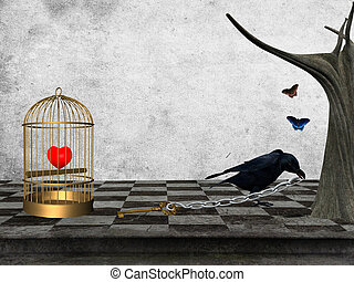Give me back my heart - Conceptual work: crown and prisoner ...