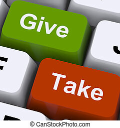 Give Or Take Keys Showing Compromising