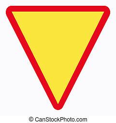 give way sign