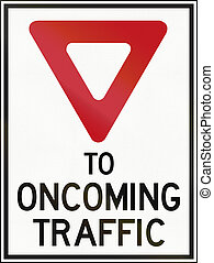 Give Way To Oncoming Traffic in Canada