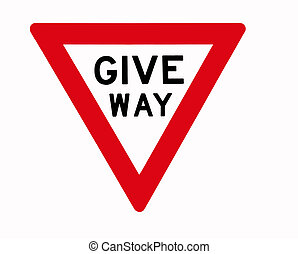Give Way, Traffic Sign