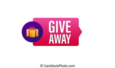 Giveaway banner for social media contests and special offer. stock illustration