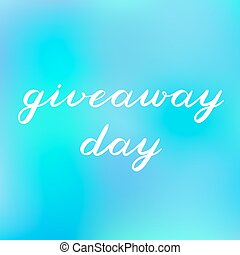 Giveaway day brush lettering. Cute handwriting. - Giveaway...
