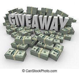 Giveaway Jackpot Money Prize Cash Winnings - Giveaway 3d...