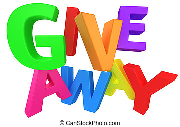"Giveaway multicolour - Word ""Giveaway"" made from..."