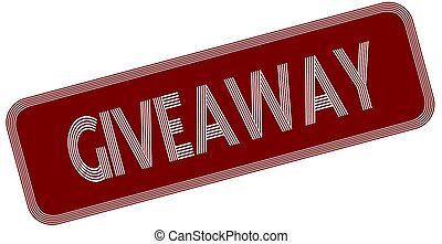 GIVEAWAY on red label.