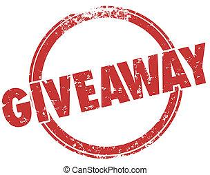 Giveaway Red Grunge Stamp Free Prize Award - Giveaway word...