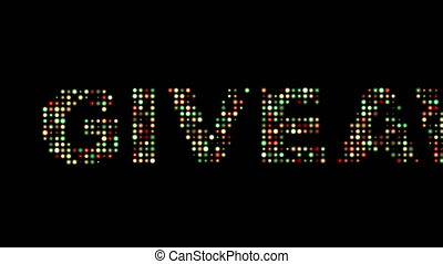Giveway Front Text Scrolling Led Wall Pannel Display