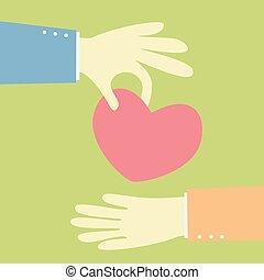 giving a heart