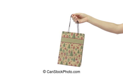 Giving A Present Bag Decorated