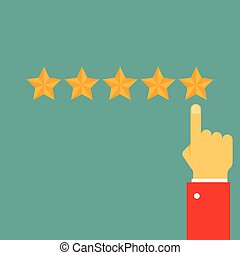 Giving five stars raiting. Feedback, review, quality and...