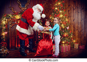 giving gifts on xmas