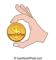 Giving money symbol