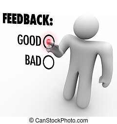 Giving Opinion Feedback Answering Question Touch Screen - A...