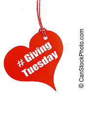 Giving Tuesday heart shape ticket. - Giving Tuesday red ...