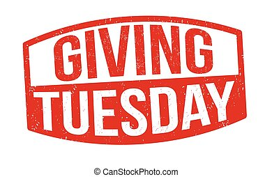 Giving tuesday sign or stamp on white background, vector ...