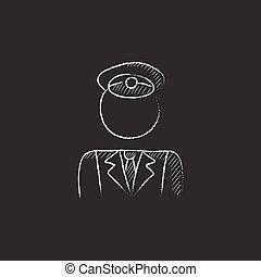 giz, conductor., icon., desenhado