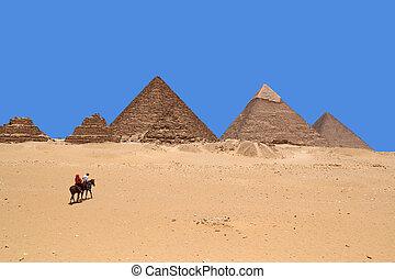 giza, egypte, piramides