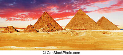 giza, pirámide, localizado, grande