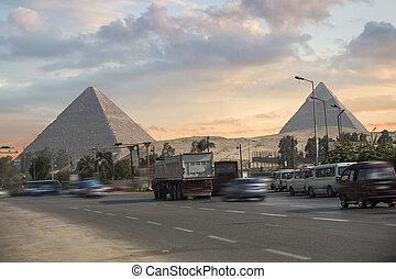 giza, piramides, egypt.