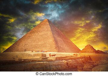 giza., piramides