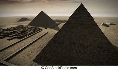 Giza platform Egypt animation in 3D 4K - An animation of the...