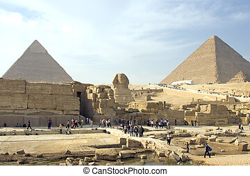 Giza Pyramids and Sphinx - The pyramids of Giza and Great...
