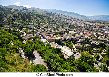 Gjirokaster - town of silver roofs in Albania