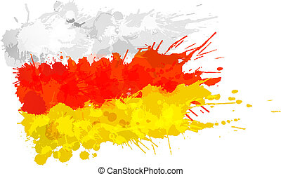 gjord, färgrik, ossetia, flagga, stänk, syd