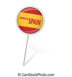 gjord, -, runda, stift, spanien